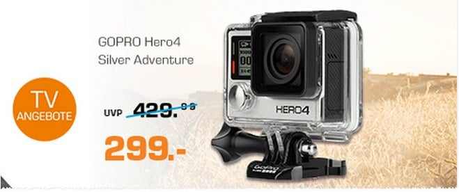 gopro hero 4 action cam als saturn angebot 299. Black Bedroom Furniture Sets. Home Design Ideas