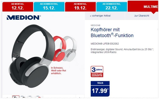 medion bluetooth kopfh rer aldi angebot ab. Black Bedroom Furniture Sets. Home Design Ideas